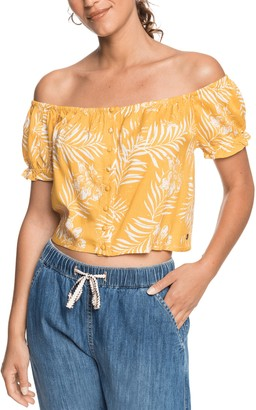 Roxy Midnight Magic Off the Shoulder Top