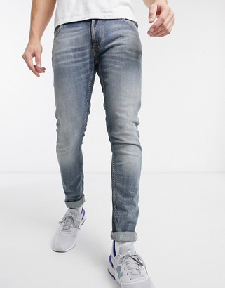 Nudie Jeans Skinny Lin skinny fit jeans in misty blue