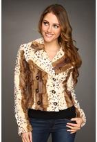 Gabriella Rocha Boren Fur Cheetah Jacket (Brown/White) - Apparel