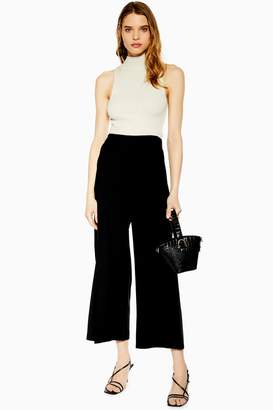 Topshop Womens Slash Palazzo Trousers - Black