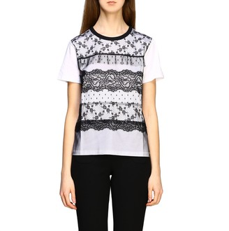 RED Valentino T-shirt Short-sleeved T-shirt With Lace Section