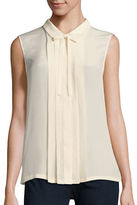 Weekend Max Mara Rosita Sleeveless Silk-Combo Top