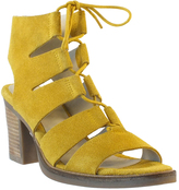 Bos. & Co. Yellow Brooke Suede Sandal