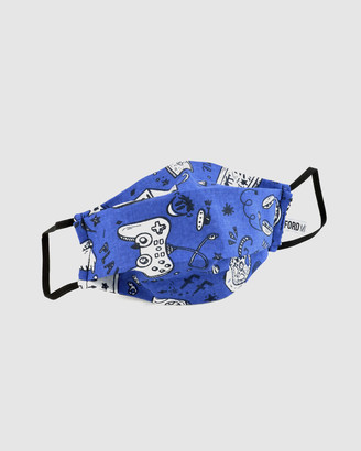 Ford Millinery - Face Masks - Gamer Reversible Fabric Face Mask - Size One Size, M at The Iconic