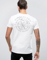 Timberland Back Compass Logo T-Shirt Regular Fit in White