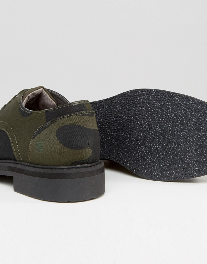 G Star G-Star Camo Lace Up Derby Shoes