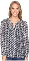 Pendleton Paulina Houndstooth Print Blouse Women's Blouse