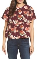 Halogen Women's Layered Floral Top