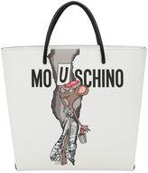 Moschino Printed Shopping Tote Bag