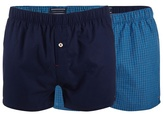 Tommy Hilfiger Pack Of Two Checked Blue Boxers In A Gift Box