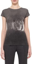 Akris Lion Print Stretch Cotton Jersey Tee