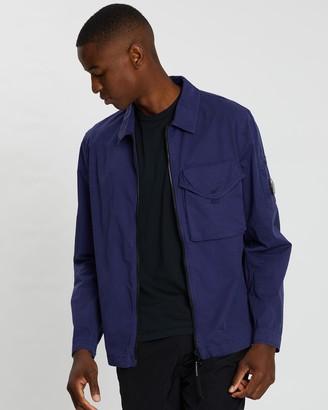 C.P. Company Garment Dyed Gabardine Lens Overshirt
