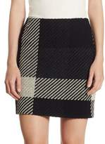 Akris Punto Checked Tweed Mini Skirt