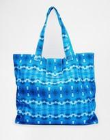 Echo Printed Reversible Beach Tote Bag