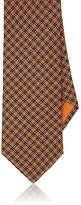 Brioni Men's Diamond-Pattern Silk Twill Necktie