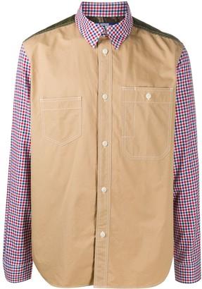 Junya Watanabe Check-Print Contrast Shirt