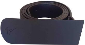 Giuseppe Zanotti Black Leather Belts
