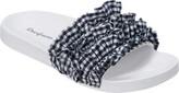 Dearfoams Ruffle Molded Footbed Slide (Women's)