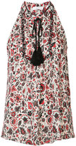 A.L.C. floral print sleeveless top - women - Silk - 6