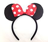 Disney Minnie Mouse Ear Headband: M4 (White Dots-Red) by Products4ushop