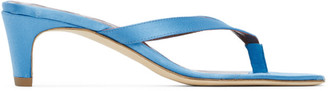 STAUD Blue Satin Audrey Sandals