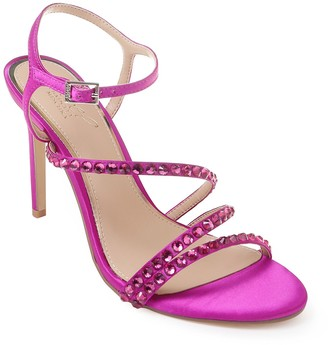 Badgley Mischka Marimba Crystal Embellished Sandal