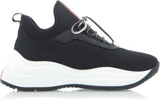 Prada Neoprene And Rubber Sneakers
