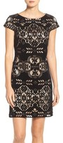 Eliza J Burnout Velvet Sheath Dress (Regular & Petite)