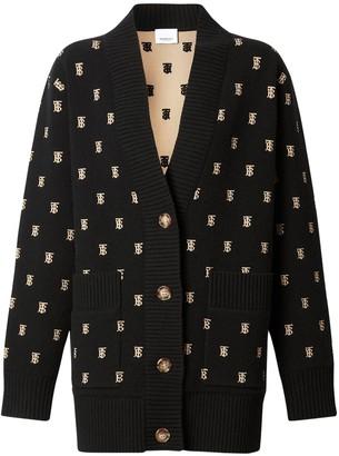 Burberry Palena Wool Blend Knit Cardigan