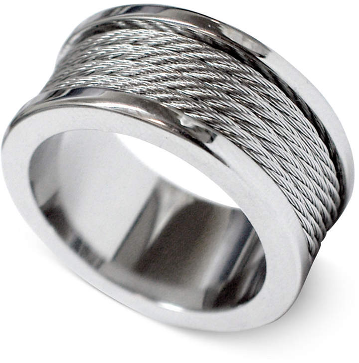 Charriol Unisex Silver-Tone Cord Ring