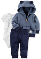 Carter's 3-Pc. Animal-Ears Hoodie, Bodysuit & Pants Set, Baby Boys (0-24 months)