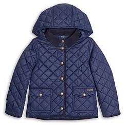 Ralph Lauren Polo Girls' Water Resistant Hooded Barn Jacket - Little Kid