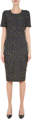 Boutique Moschino Animal Print Pencil Dress
