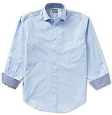 Thomas Dean Textured Stripe Long-Sleeve Woven Shirt