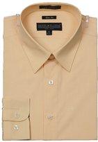 Sunrise Outlet Men's Slim Fit Basic Shirt Button Cuff - Light M