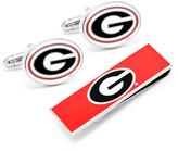 Ice Georgia Bulldogs Cufflinks and Money Clip Gift Set