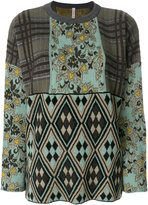 Antonio Marras contrast panel knitted top