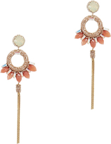 Deepa Gurnani Peach Stone Tassel Earrings