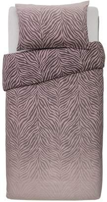 Argos Home Blush Zebra Ombre Bedding Set