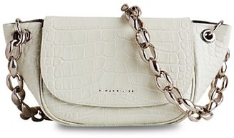 Simon Miller Bend Croc-Embossed Leather Saddle Bag