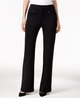 JM Collection Ponte Bootcut Trousers, Only at Macy's