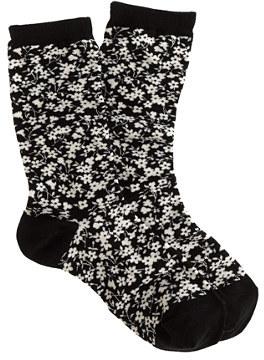 J.Crew Daisy print trouser socks