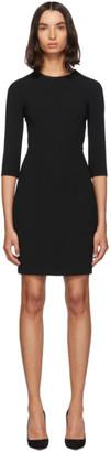 Dolce & Gabbana Black Three-Quarter Sleeve Mini Dress