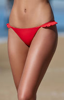La Hearts Side Ruffle Cheeky Bikini Bottom
