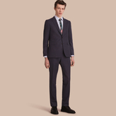 Burberry Slim Fit Wool Flannel Suit , Size: 58R, Blue