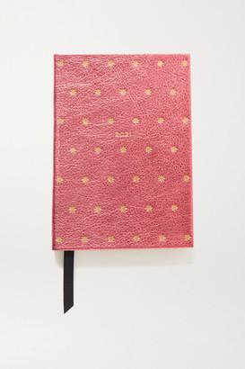Smythson 2021 Soho Diary Printed Metallic Textured-leather Notebook - Pink