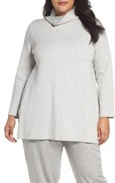 Eileen Fisher Plus Size Women's Reversible Funnel Neck Tunic Sweater