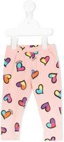 Moschino Kids - heart print leggings - kids - Cotton/Spandex/Elastane - 3-6 mth