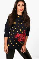 boohoo Maternity Aimee Jingle Belly Christmas Jumper