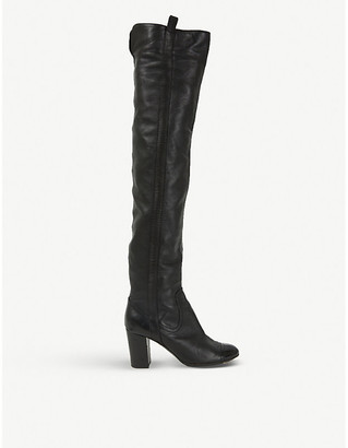 Selfridges Chanel knee-high leather boots